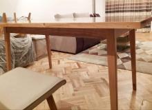 Масивна трапезна маса от дъб